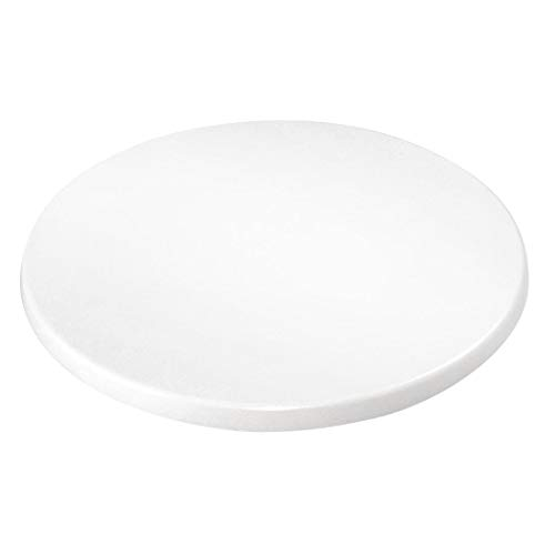 Bolero gl972redondo tablero de la mesa, color blanco