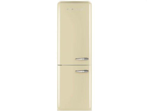 Smeg FAB32LPN1 Independiente 304L A++ Crema de color nevera y congelador - Frigorífico (304 L, SN-T, 10 kg/24h, A++, Compartimiento de zona fresca, Crema de color)