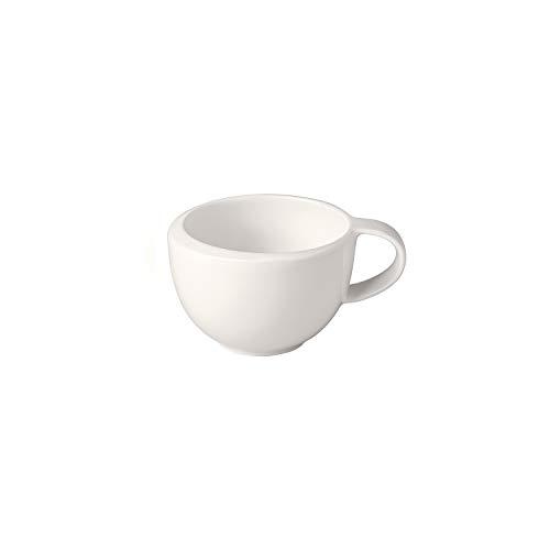Villeroy & Boch - NewMoon Mokka-/Espressoobertasse, formschöne Tasse mit Henkel für Espresso und Mokka, Premium Porzellan, spülmaschinengeeignet, weiß, 90 ml