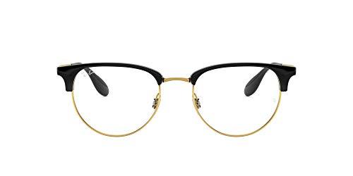 Ray-Ban 0rx 6396 5784 51 Monturas de Gafas, Black/Gold, Hombre