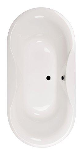 'aquaSu® Acryl Duo-Badewanne Amoro   Freistehende Badewanne   185 x 90 cm