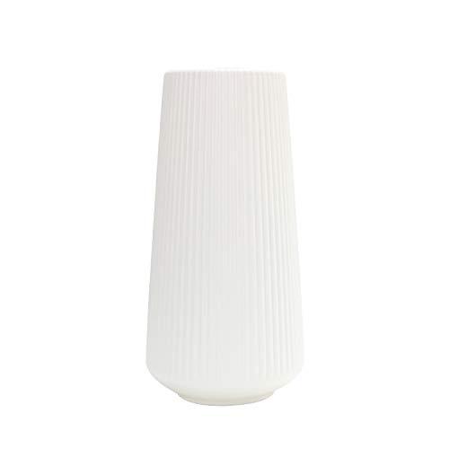 Soolike Groß Vase Deko Modern Wohnzimmer Für Pampasgras Für Tischdeko Kunststoff Weiß Grün Haus Dekoration, Für Dekorieren Von Wohnzimmer, Schlafzimmer, Büro, Restaurant, Café (White 30.5*15.5cm)
