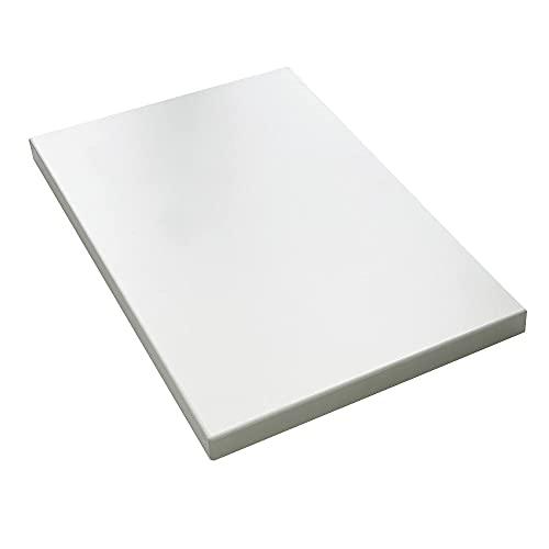 vabo Schreibtisch-Platte mit hoher Kratzfestigkeit in weiß, Tischplatte bis zu 120kg belastbar, moderner Büro-Tisch mit Laserkante, 180x80x2,5cm