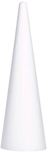 Rayher 3003700, Cono in polistirolo per bricolage e fai da te, diametro 25 cm, altezza 80 cm