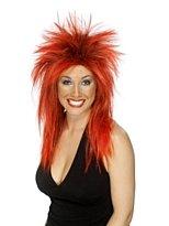 Rock Diva Perruque Rouge et Noir