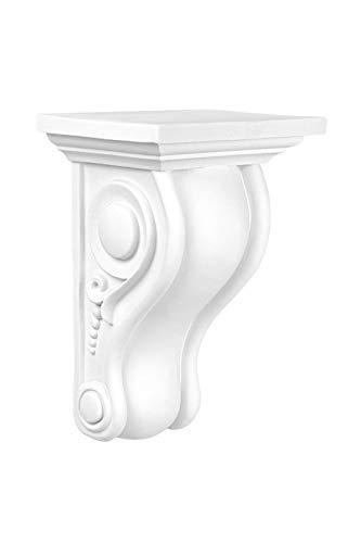 Stuckkonsole | vorgrundiertes schlagfestes Polyurethan | Wandkonsole | Barock | Innendekor | PU | Hexim Perfect | 170 x 135 mm | C8029