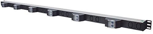 Intellinet 163668 Unidad de distribución de energía (PDU) Negro, Plata 12 Salidas AC - Unidad de distribución de energía (PDUs) (Vertical, Negro, Plata, 12 Salidas AC, C13 acoplador, IEC320 C14, 2 m)