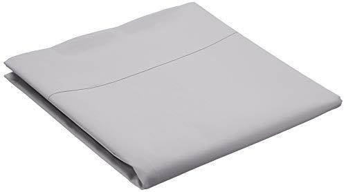 Amazon Basics 'Everyday' Bettlaken aus 100% Baumwolle, 180 x 260 cm - Dunkelgrau