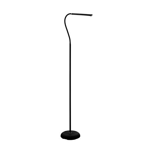 EGLO LED Stehlampe Laroa, Standlampe mit Touch, dimmbar in Stufen, Stehleuchte aus Kunststoff in Schwarz, Standleuchte, LED Bürolampe neutralweiß