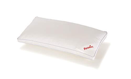 PARADIES Kissen 40x80 cm Softy fest Bio, Öko-Tex Zertifiziert Standard 100 Klasse 1, medizinisch getestet, Kopfkissen mit Reißverschluss