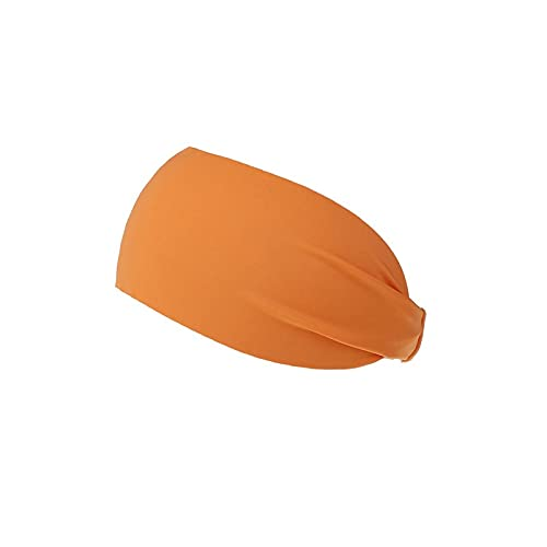 Wzdszuiltd Cinta Pelo Deporte Ciclismo Yoga Sweat Sweat Deedband Hombres Sweatband for Hombres Mujeres Yoga Bandas de Pelo Cabeza Sudaderas Sweat Sports Safet (Color : Orange)
