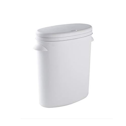 SCDZS Las latas de Basura, Cuarto de baño de Tipo Push Botes de Basura, Cubos de Basura con Tapas, Cubos de Basura del hogar, el hogar Creativo Botes de Basura