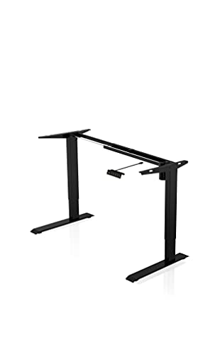 - AGIL - Elektrisch höhenverstellbarer Schreibtisch - Standing Desk in verschiedenen Farben & Größen - Ergonomischer Schreibtisch für Kinder und Erwachsene (Standardgestell Schwarz)