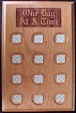 Max 72% OFF One Day at A Time Holder Wood Medallion Max 87% OFF Lasered