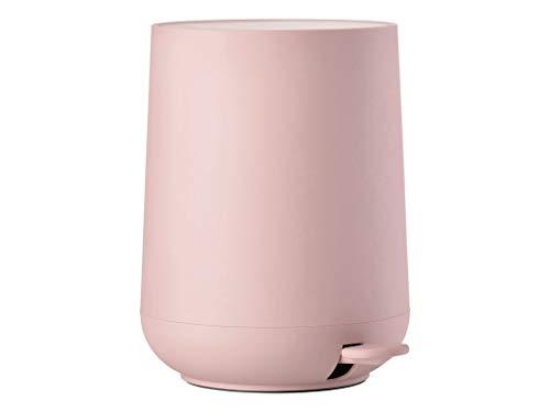 Zone Denmark Nova Mülleimer/Abfalleimer, Kosmetikeimer fürs Bad, 5 Liter, rosa