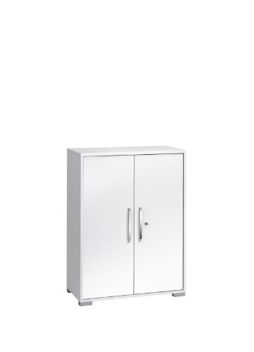 MAJA-Möbel, 1226 3956, archiefkast met deuren, Icy-wit - hoogglans, afmetingen BxHxD: 80 x 109,7 x 40 cm