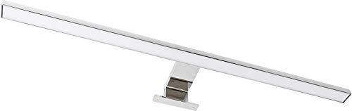 LED 2in1 Spiegelleuchte 8W IP44 230V - Aufsatz + Aufbau - eingebauter LED Trafo (warmweiß (3000 K))