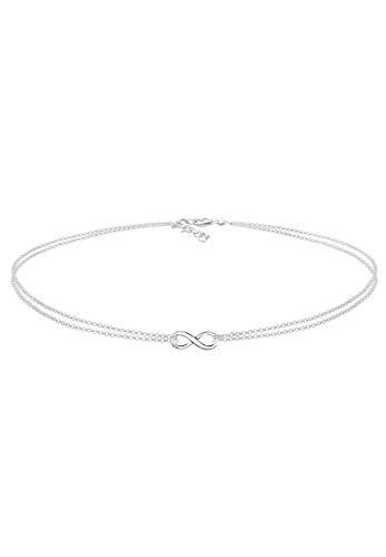 Elli Halskette Damen Infinity Choker Unendlichkeit in 925 Sterling Silber