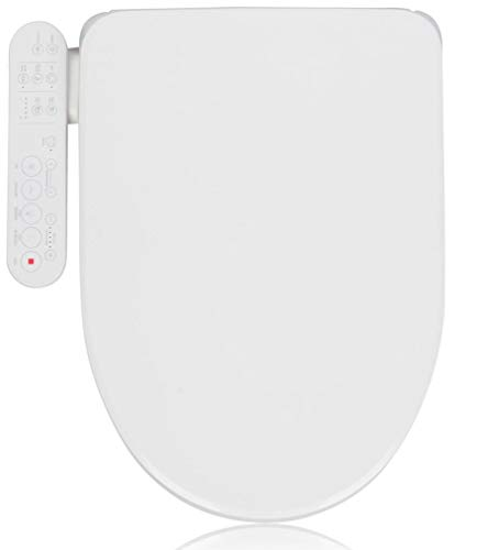 Alpha Bidet GX Wave Bidet Toilet Seat in Elongated White | Strong Spray | Stainless Steel Nozzle | 3 Wash Functions | LED Nightlight | Warm Air Dryer | Oscillation and Pulse