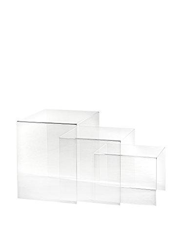Iplex Design bijzettafel 3 hoogtes van plexiglas, transparant