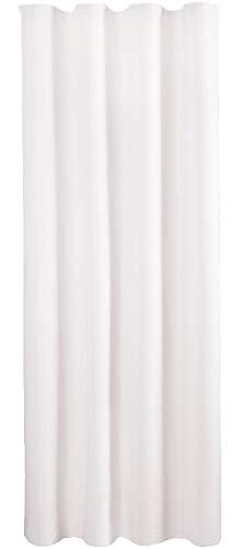 Bestlivings Blickdichte Weißer Gardine mit Kräuselband in 140x145 cm (BxL), in vielen Größen und Farben