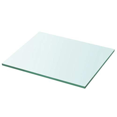 Tidyard Regalboden Glas Transparent 30x25cm, 18 Größen, Glasregal Wandregal Glasboden Glasablage Glasplatte Glasscheibe Einlegeboden Duschablage Glas