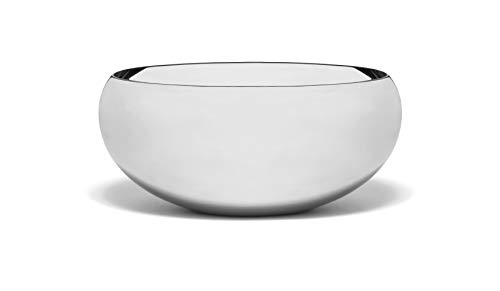 Lipper International Seascape Stainless Steel Small Calabash Bowl 6.5' , Mirror finish
