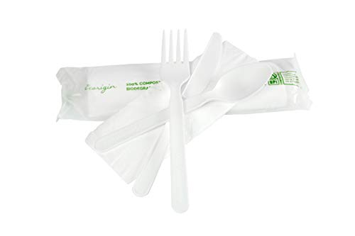 Tenedores Plastico Dorado Marca Ecorigin
