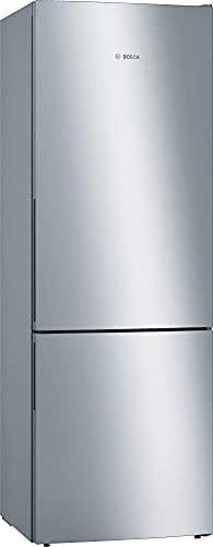 Bosch KGE49AICA Serie 6 frigorifero da freezer, formato XXL, 201 x 70 cm, 163 kWh/anno, con stampa anti-impronte Inox, 302 l, congelatore da 117 l, LowFrost e VitaFresh