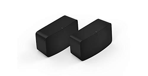 Sonos Five | Stereo Paar | WLAN Speaker, schwarz – Leistungsstarker WLAN Lautsprecher für Musikstreaming mit bestem, kristallklarem Stereo HiFi Sound – AirPlay kompatibler Multiroom Lautsprecher