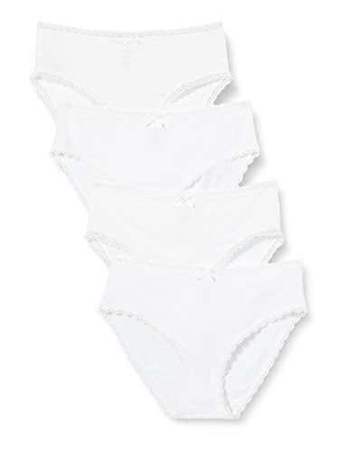 Athena Lingerie COTON BIO 8D61 culottes - lot de 4- Femme -Blanc - 44/46
