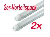 2er-VORTEILSPACK-LED Röhre [kein Starter nötig!] T8 Länge 72 cm (720mm) Leistung 12W Lumen 1320lm Lichtfarbe 3000K Farbreinheit CRI >80 Durchmesser 26mm Sockel G13 -prisma