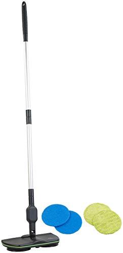 Sichler Haushaltsgeräte Akku Wischmop: Akku-Wischmopp EW-50, 2 rotierende Aufsätze, zum Wischen & Polieren (Akku Wischer Boden)
