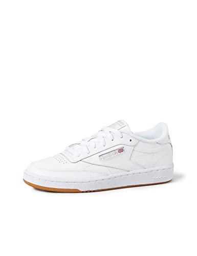 Reebok Club C 85, Sneaker Donna, Bianco (White/Light Grey/Gum), 38 EU