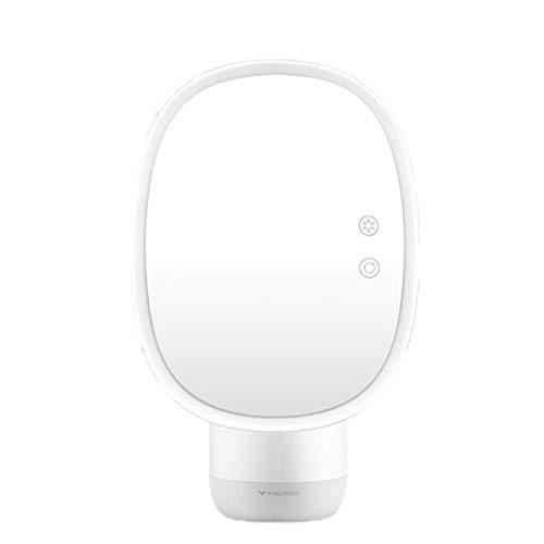 Miroir de maquillage LHY à LED Miroir de Cabinet de Toilette Double Face pour humidification La Mode (Color : White)