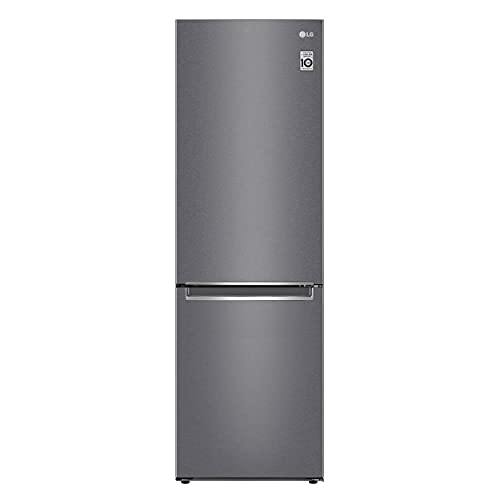 LG GBP61DSPFN Frigorifero Combinato Total No Frost con Congelatore, 341 L, 36 dB - Frigo con Freezer, Tecnologia FRESH Converter, Display LED Interno, Inox
