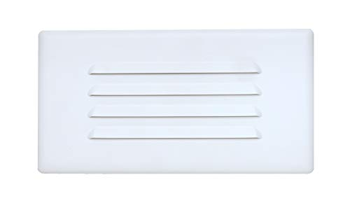 NICOR Lighting 10 inch Louvered Glass Step Light Faceplate Cover (15811COVER)