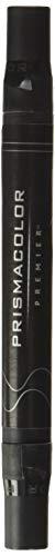Prismacolor Premier Double-Ended Brush Tip Markers, Jet Black 211