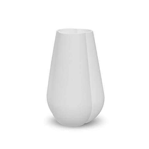 Cooee Design Clover - Vaso in Ceramica, 25 cm, Colore Bianco