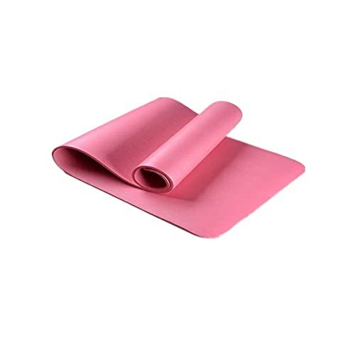 FENGCHENG Esterilla de yoga para hombre para saltar y para mujer, gruesa, alargada, a prueba de sonido, absorbe los golpes, antideslizante, rosa, 183 cm x 61 cm x 0,8 cm