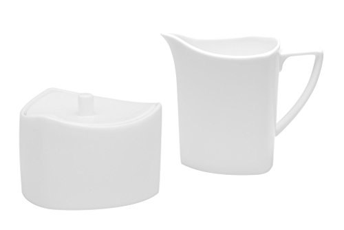 Red Vanilla Extreme Covered Sugar Bowl And Creamer Set, White