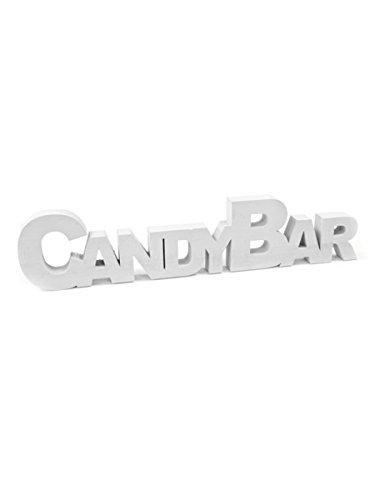 Holzdeko Candybar, weiß, 27 x 6 x 1,5 cm