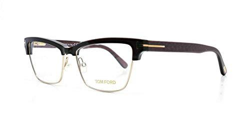 Tom Ford FT5364 Anteojos 53-15-140 La Habana 048 TF5364 5364 Por mujer Oscuro brillante de Brown Medio