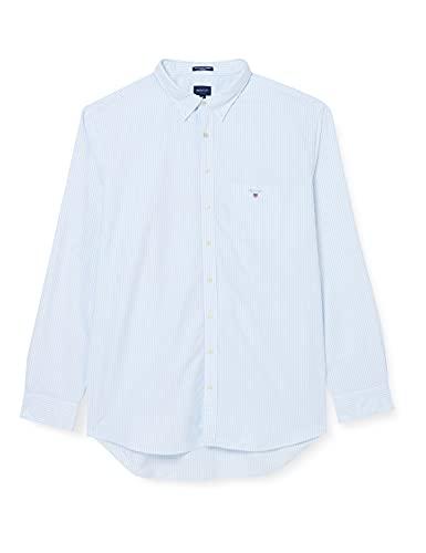 GANT REG Oxford Banker BD Camisa, BLU Capri, 4XL para Hombre
