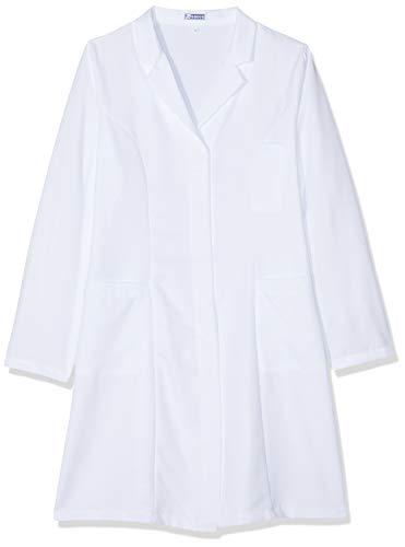 Camice Donna SLIM Bianco Medico Farmacista molto sciancrato Tessuto Boheme No Stiro 008570 (S)