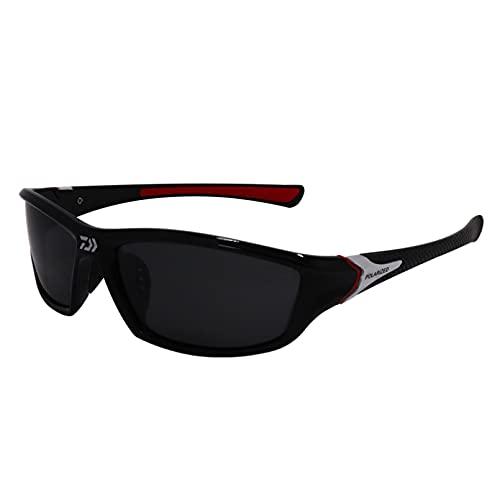 LERDBT Gafas de sol polarizadas deportivas para hombre y mujer, bicicletas de conducción, pesca de golf, correr, esquí, protección UV400, TR90, marco ligero, duradero e irrompible