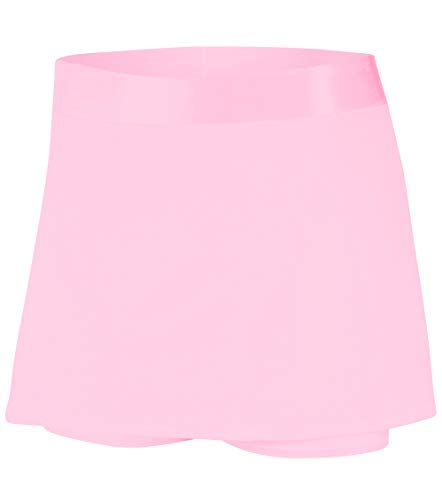 DYLH Damen Sport-Hosenrock Skort Slim Fit Tennisrock mit Tasche Innenhose für Laufen Golf Pink XL