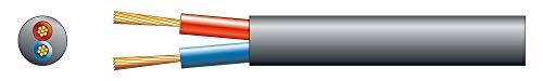 SkyTronic 100V Luidsprekerkabel 2x 2.5mm 25A - Zwart - rol van 100 meter