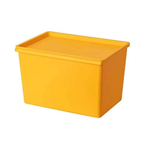 Dabeigouzzhiwl scatole per armadio, 1 pz Box impilabile per bidoni dello stoccaggio con coperchio attaccato, per giocattoli, articoli da toeletta, vestiti, snack e altro (blu, verde, rosso, giallo), d