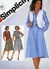 Simplicity 5496 - Patrones de Costura para Jersey de Mujer y Chaleco Reversible (Talla 12)